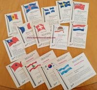 1961 nice condition gum cards 14 different Heinerle Winter Olympics cards  W.Germany only £2 eac